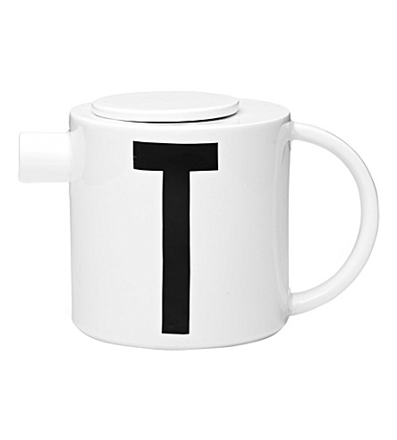 DESIGN LETTERS T china tea pot