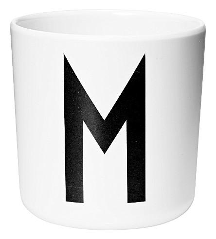 DESIGN LETTERS M melamine cup