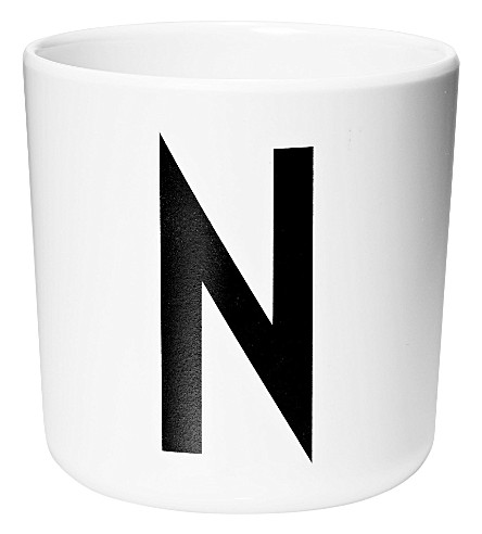 DESIGN LETTERS Initial melamine cup n