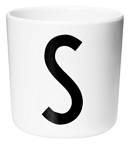 DESIGN LETTERS Initial melamine cup s