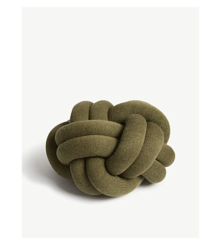 DESIGN HOUSE STOCKHOLM Knot wool-blend cushion 27x27cm