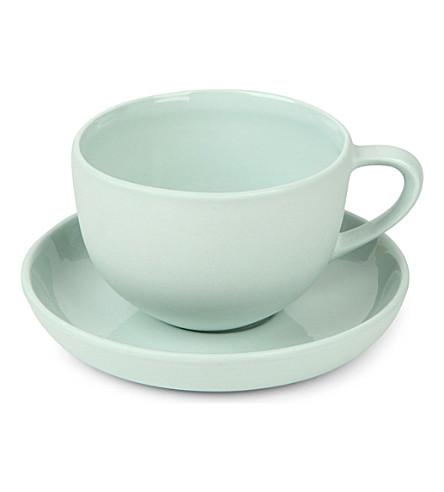 MUD AUSTRALIA Ceramic tea cup and saucer