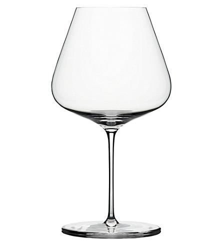 ZALTO Burgandy crystal wine glass