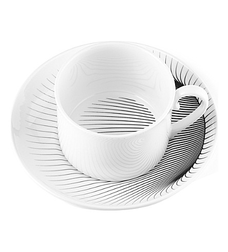 ZAHA HADID Illusion tea cup and saucer pair