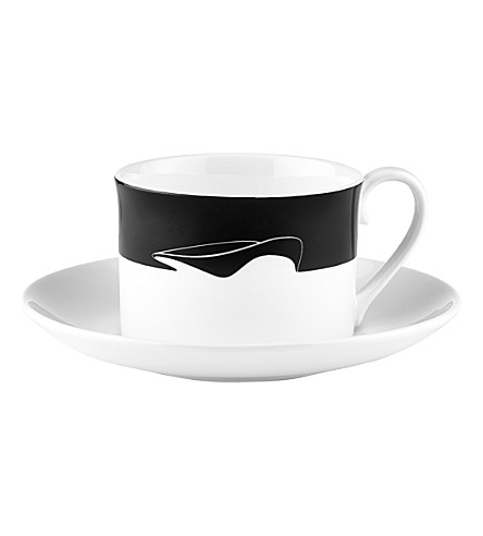 ZAHA HADID Icon Aquatic Centre tea cup and saucer