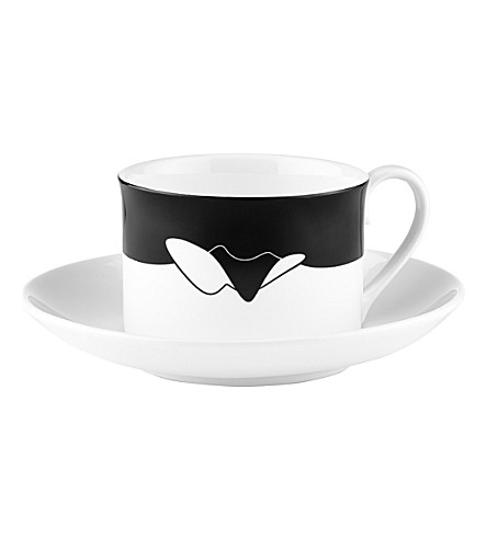 ZAHA HADID Icon Serpentine tea cup and saucer