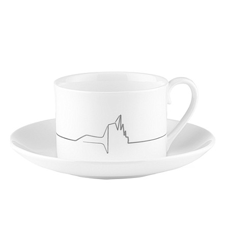 ZAHA HADID Icon Riverside Museum tea cup and saucer