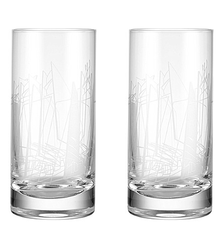 ZAHA HADID Sketch set of two Berlin highball glasses