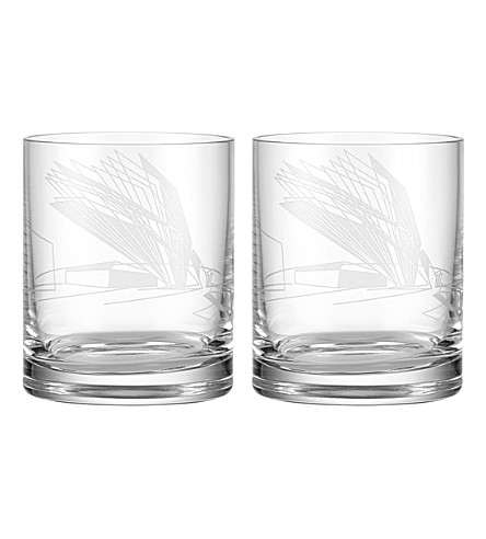 ZAHA HADID Sketch set of two Hamberg lowball glasses