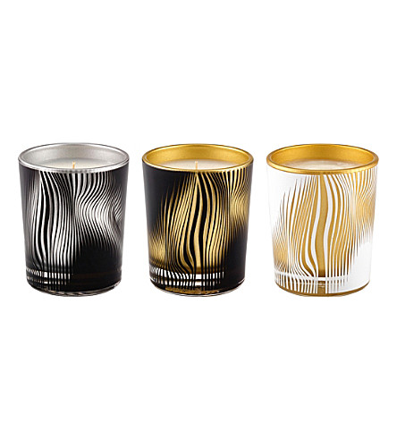 ZAHA HADID Solis set of three candles