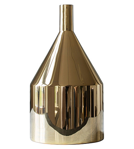 SKULTUNA 1607 Polished brass Via Fondazza vase, model C