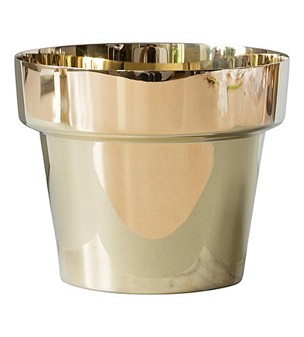 SKULTUNA 1607 Polished brass flower pot, medium