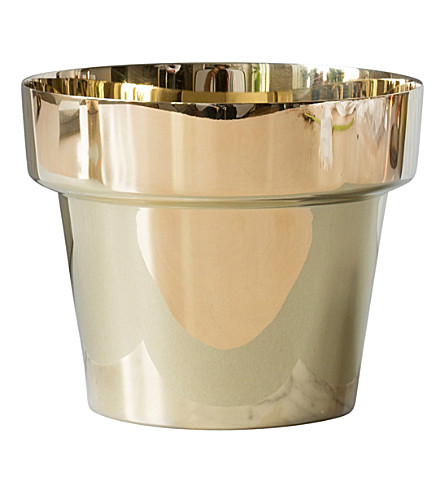 SKULTUNA 1607 Polished brass flower pot, small