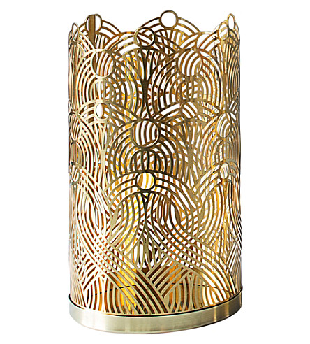 SKULTUNA 1607 Large Lunar brass candle holder