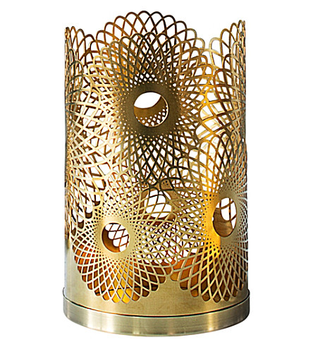 SKULTUNA 1607 Feather brass candle holder