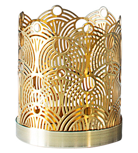 SKULTUNA 1607 Small Lunar brass candle holder