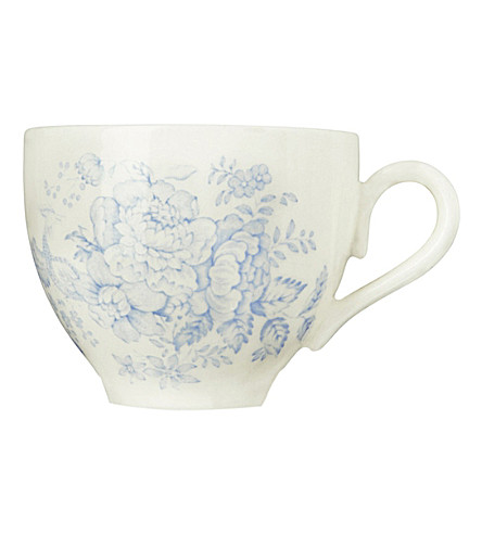 BURLEIGH Asiatic pheasants blue ceramic tea cup 187ml