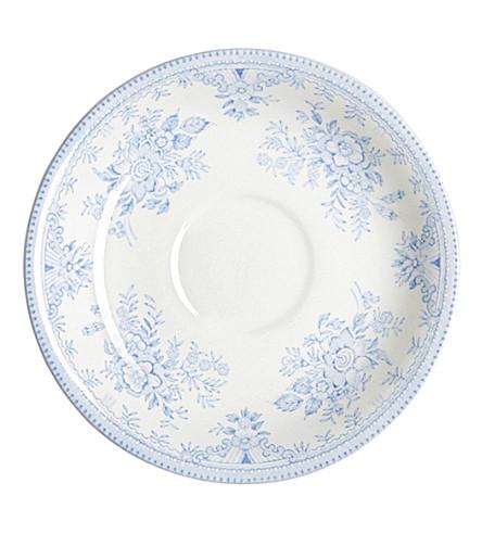 BURLEIGH Asiatic blue pheasants ceramic tea saucer