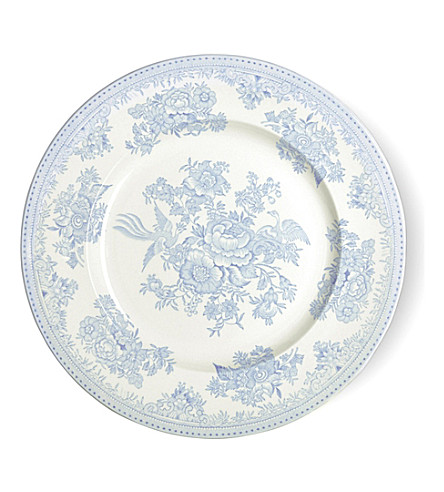 BURLEIGH Asiatic blue pheasants ceramic plate 25cm (Blue