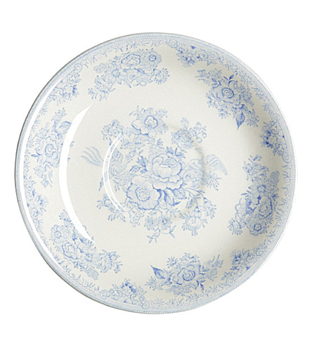 BURLEIGH Asiatic pheasants ceramic breakfast saucer (Blue