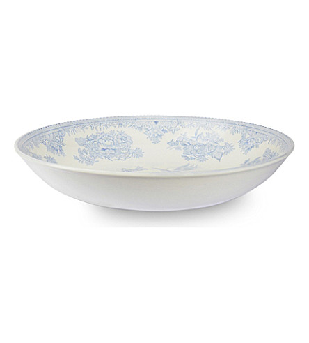 BURLEIGH Asiatic Pheasants blue ceramic pasta bowl 23cm