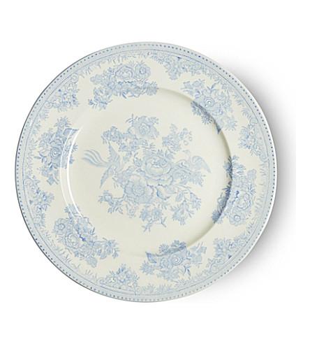 BURLEIGH Asiatic blue pheasants ceramic plate 22cm