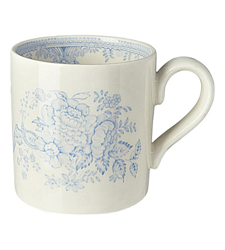 BURLEIGH Asiatic pheasants blue ceramic mug 375ml (Blue