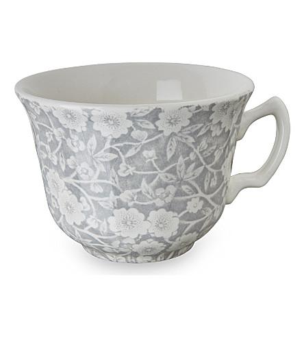 BURLEIGH Calico dove grey ceramic tea cup 187ml