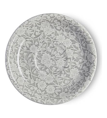 BURLEIGH Calico dove grey ceramic tea saucer (Dove+grey