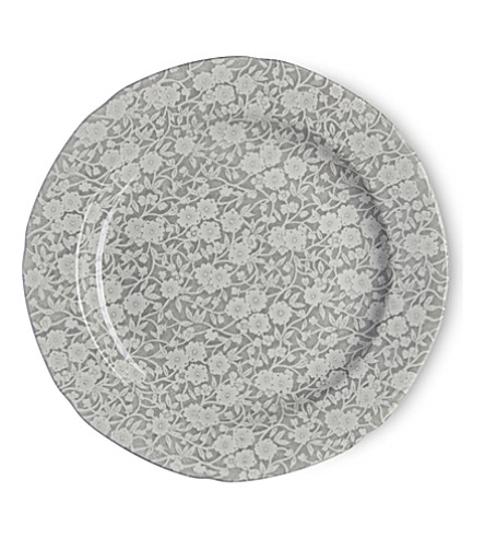 BURLEIGH Calico dove grey ceramic plate 26.5cm (Dove+grey