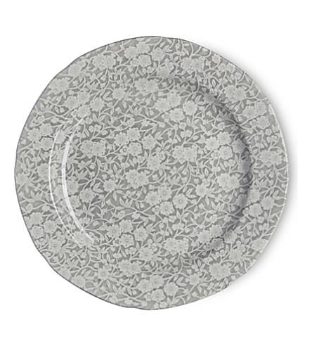 BURLEIGH Calico dove grey ceramic plate 26.5cm