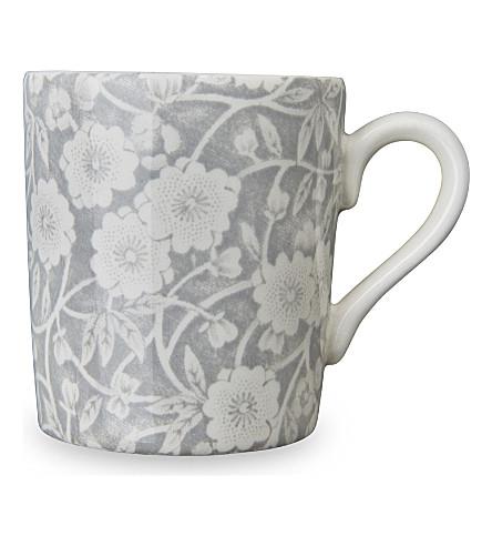 BURLEIGH Brlgh dove grey calico espresso cup 75ml