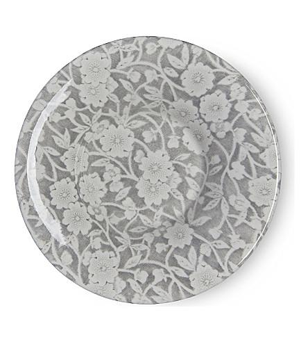 BURLEIGH Calico dove grey ceramic espresso saucer