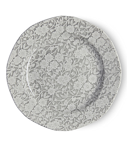 BURLEIGH Calico dove grey ceramic plate 21.5cm (Dove+grey