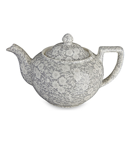 BURLEIGH Calico dove grey ceramic teapot 800ml