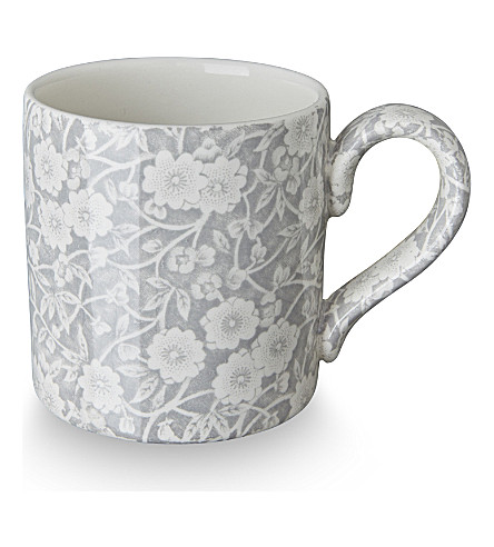 BURLEIGH Calico dove grey ceramic mug 284ml