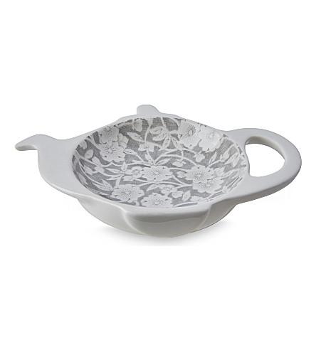 BURLEIGH Calico dove grey ceramic mini teapot tray (Dove+grey