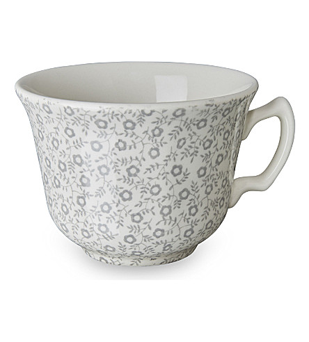 BURLEIGH Felicity dove grey ceramic tea cup 187ml