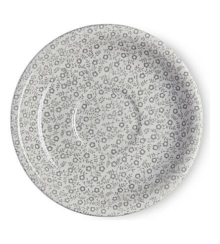 BURLEIGH Felicity dove grey ceramic tea saucer