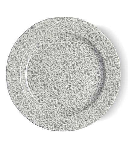BURLEIGH Felicity dove grey ceramic plate 26.5cm