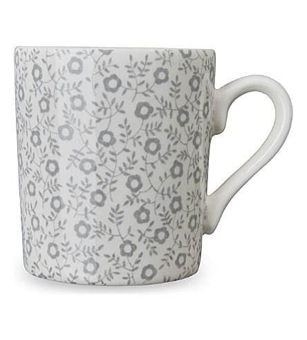 BURLEIGH Felicity dove grey ceramic espresso cup 75ml (Dove+grey