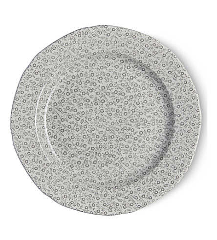 BURLEIGH Felicity dove grey ceramic plate 21.5cm (Dove+grey