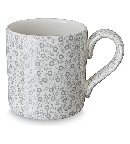 BURLEIGH Felicity dove grey ceramic mug 284ml (Dove+grey