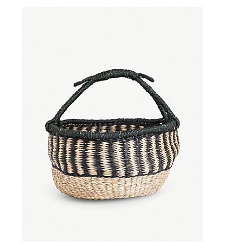 DASSIE ARTISAN Abayomi seagrass round basket