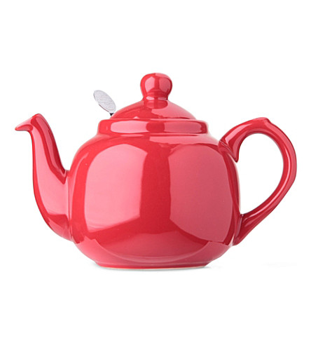 LONDON POTTERY Two cup teapot (Red