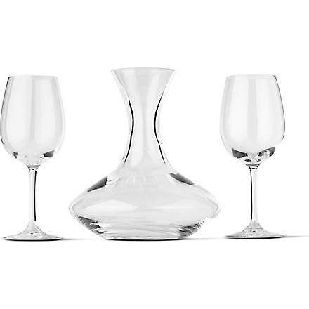 DARTINGTON Crystal carafe and wine glass set