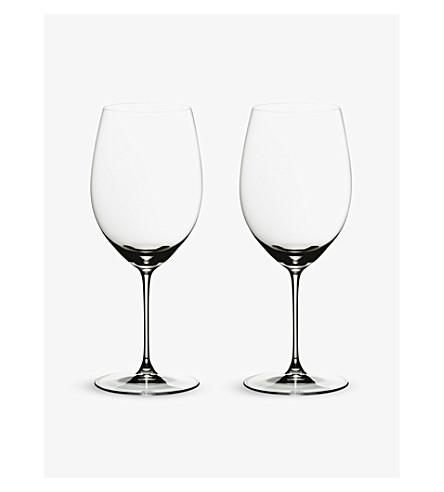 RIEDEL Veritas cabernet/merlot glasses pair