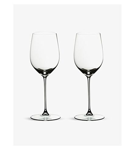 RIEDEL Veritas chardonnay glasses pair