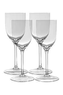 LSA Bar set of four port glasses