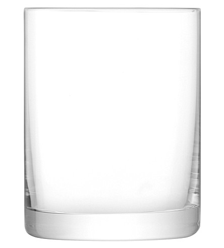 LSA Otis set of four glass tumblers